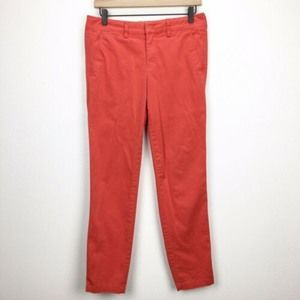 Vince. Red Tapered Chino Pants Flat Front sz 4